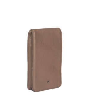 Gold leather phone bag